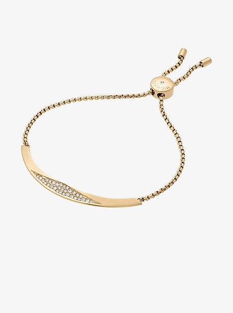 Pave Gold-Tone Slider Bracelet