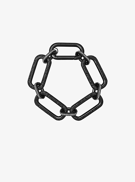 Black-Tone Chain-Link Bracelet