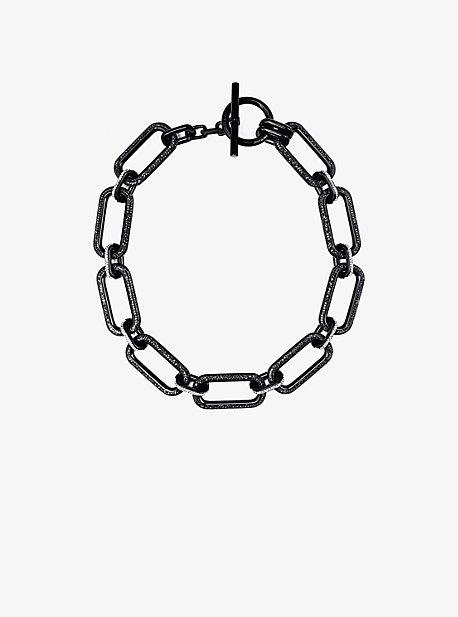 Black-Tone Chain-Link Necklace