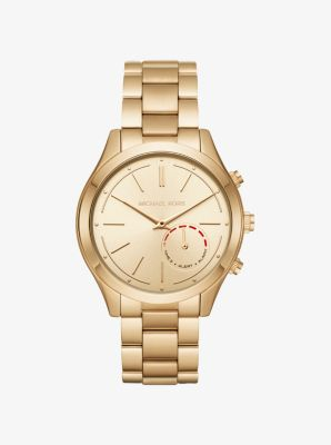 Michael Kors Access Slim Runway Gold-Tone Hybrid Smartwatch by Michael Kors