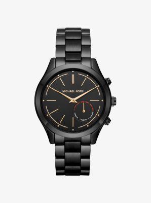 Michael Kors Access Slim Runway Black-Tone Hybrid Smartwatch by Michael Kors