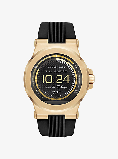Dylan Silicone Gold-Tone Smartwatch by Michael Kors