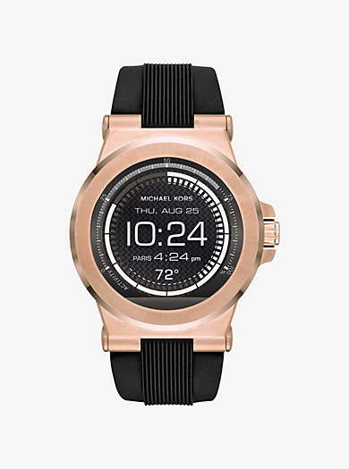 Dylan Silicone Rose Gold-Tone Smartwatch by Michael Kors