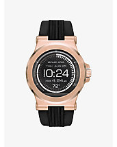 Michael Kors Access Dylan Silicone Rose Gold-Tone Smartwatch
