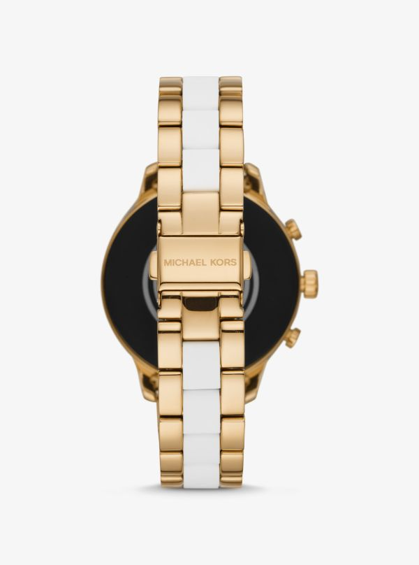 Michael Kors - Runway Heart Rate Gold-Tone And Silicone Smartwatch - 2