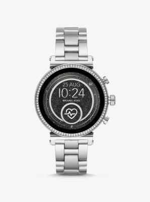 마이클 코어스 실버톤 스마트워치 Michael Kors Sofie Heart Rate Silver-Tone Smartwatch,SILVER