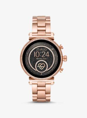 마이클 코어스 레이트 골드톤 스마트워치 - 로즈골드 Michael Kors Sofie Heart Rate Rose Gold-Tone Smartwatch,ROSE GOLD