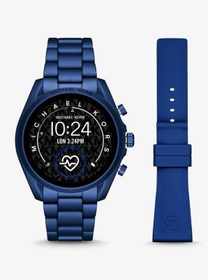마이클 코어스 스마트 워치 Michael Kors Gen 5 Bradshaw Blue-Tone Aluminum Smartwatch,NAVY