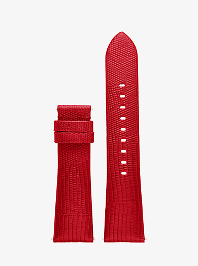 Bradshaw Embossed-Leather Smartwatch Strap by Michael Kors