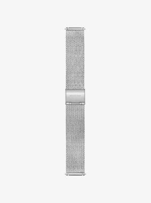 마이클 코어스 Michael Kors Sofie Silver-Tone Smartwatch Strap,SILVER