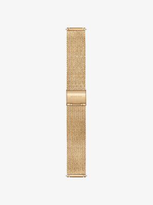 마이클 코어스 스마트 워치 스트랩 Michael Kors Sofie Gold-Tone Smartwatch Strap