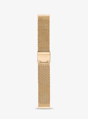 마이클 코어스 Michael Kors Gen 3 Runway Gold-Tone Mesh Smartwatch Strap,GOLD