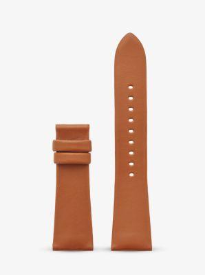 Michael Kors Bradshaw Leather Smartwatch Strap,LUGGAGE