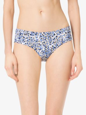 Floral-Print Shirred Bikini Bottoms by Michael Kors