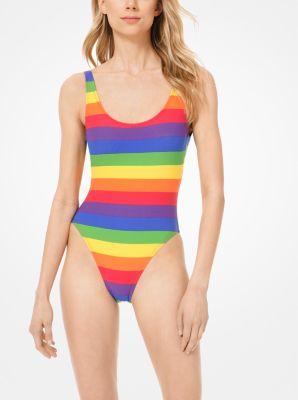 마이클 마이클 코어스 수영복 Michael Michael Kors Rainbow Stripe Swimsuit,MULTI