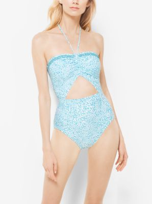 Beaded Cutout Maillot by Michael Kors