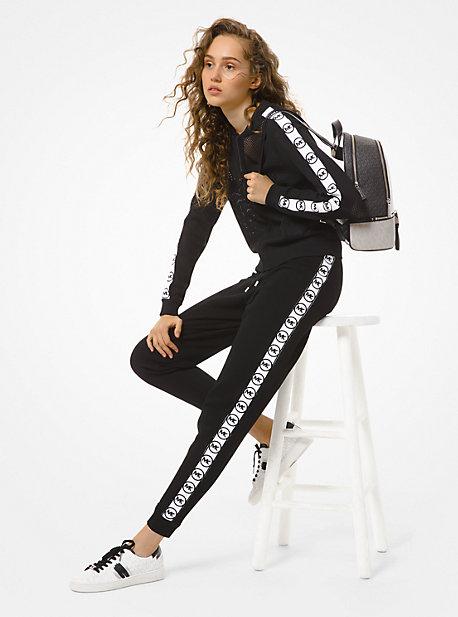 Veste de jogging en maille avec bande à logos - NOIR(NOIR) - Michael Kors