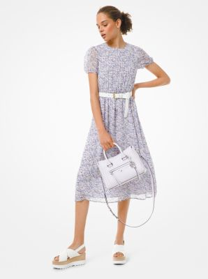 마이클 마이클 코어스 Michael Michael Kors Floral Georgette Dress,LAVENDER MIST