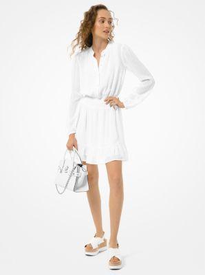 마이클 마이클 코어스 Michael Michael Kors Dot Jacquard Dress,WHITE