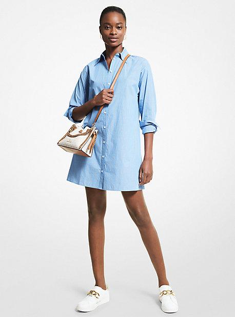 MK Robe chemise rayée en popeline de coton extensible - SOUTHPACIFIC - Michael Kors