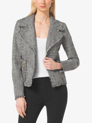 Frayed Tweed Jacket by Michael Kors