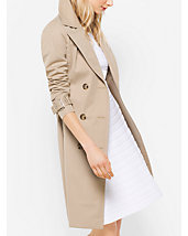 Cotton-Blend Sateen Trench Coat