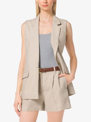 Linen Vest by Michael Kors