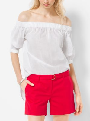 Double-Face Stretch-Cotton Shorts by Michael Kors
