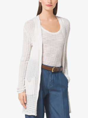 Ribbed Cotton Cardigan by Michael Kors