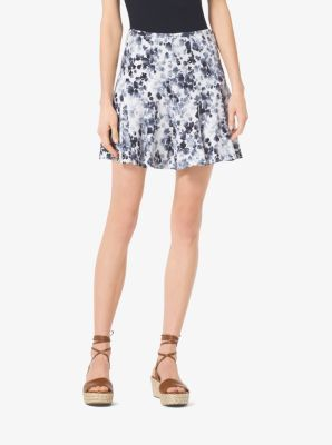 Floral-Print Crepe Skirt by Michael Kors