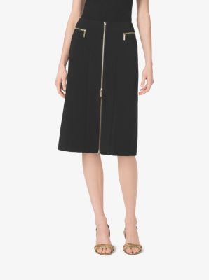 Zip-Front Jersey Skirt by Michael Kors