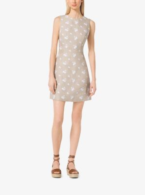Floral-Print Linen Dress by Michael Kors