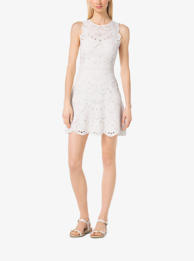 Scalloped Lace Dress by Michael Kors