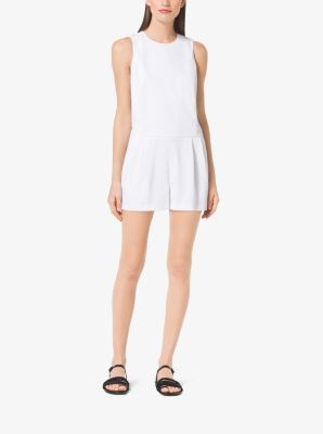Stretch-Cotton Playsuit by Michael Kors
