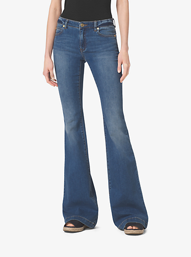 Five-Pocket Flared Jeans by Michael Kors