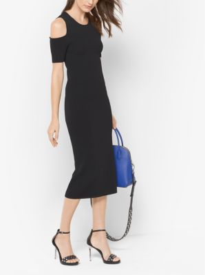 Peekaboo Stretch-Viscose Midi Dress by Michael Kors