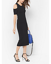 Peekaboo Stretch-Viscose Midi Dress