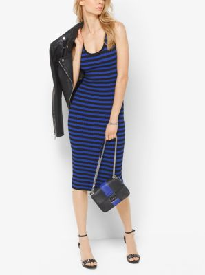 Striped Ribbed Tank Dress by Michael Kors