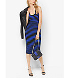 Striped Ribbed Tank Dress