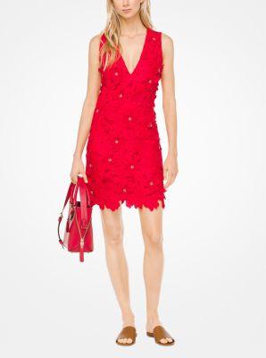 마이클 마이클 코어스 플로럴 아플리케 레이스 원피스 - 2 컬러 (윤아 '레드' 착용) Michael Michael Kors Floral Appliqué Lace Dress