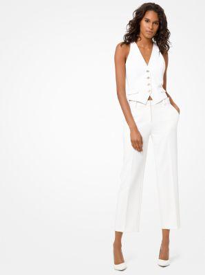 마이클 마이클 코어스 스트레치 트윌 크롭 팬츠 Michael Michael Kors Stretch-Twill Cropped Trousers,WHITE