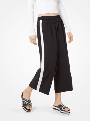 마이클 마이클 코어스 스트라이프 치마 바지 Michael Michael Kors Contrast Stripe Crepe Culottes,BLACK