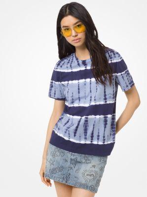 마이클 마이클 코어스 반팔티 - 네이비, 샴브레이 Michael Michael Kors Tie-Dye Cotton-Jersey T-Shirt