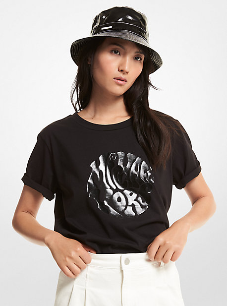 MK T-shirt unisexe en coton biologique à logo graphique - NOIR(NOIR) - Michael Kors