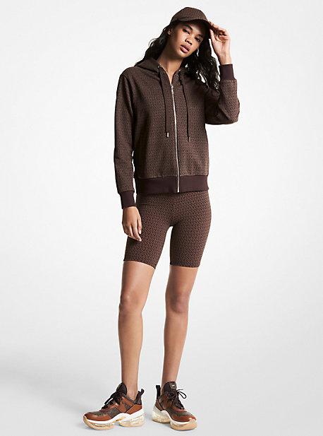 MK Pantalon de jogging en coton éponge à imprimé logo - CHOCOLAT(MARRON) - Michael Kors
