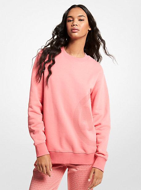 MK Sweat-shirt unisexe en mélange de coton biologique avec imprimé breloque logo - TEA ROSE - Michael Kors