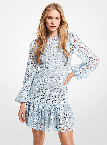 MK Mini-robe à dentelle fleurie - PASTEL BLUE - Michael Kors