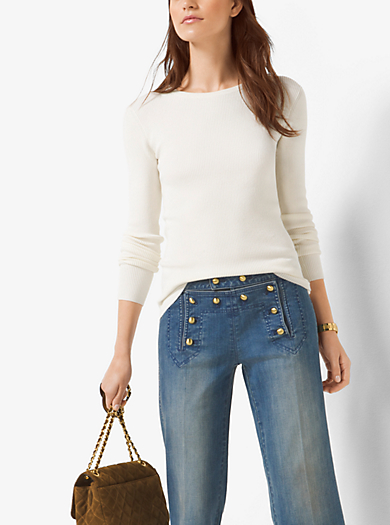 Pullover girocollo a coste by Michael Kors