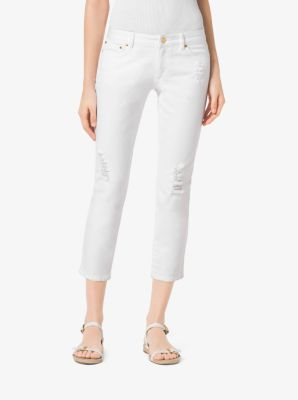 MICHAEL MICHAEL KORS Distressed Cropped Jeans