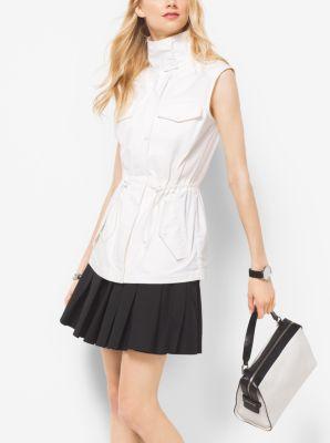 Cotton-Poplin Vest  by Michael Kors